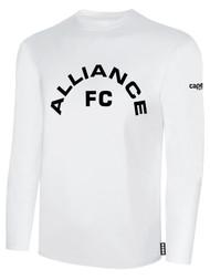 ALLIANCE FC BASICS LONG SLEEVE TEXT CENTER CHEST -- WHITE BLACK