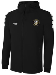 ALLIANCE FC LIFESTYLE TECH ZIP UP HOODIE -- BLACK WHITE -- IS ON BACK ORDER, WILL SHIP BY 2/8/21