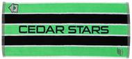 """31.5"""" x 14"""" CSA JACQUARD TOWEL -- GREEN COMBO"""