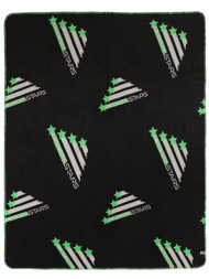 "50""x60"" CSA PRINTED FLEECE THROW -- BLACK COMBO"