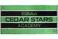 """55"""" x 27.5"""" CSA JACQUARD TOWEL  --  GREEN COMBO"""