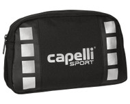 ALBION SAN DIEGO 4 CUBE DOPP KIT WITH INTERIOR POCKETS & HANGING HOOK   --    BLACK SILVER