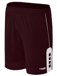 KINGS PARK CONDOR SHORTS -- MAROON WHITE