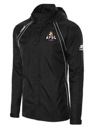 ADULT KINGS PARK RAVEN RAIN SLICKER WITH ROLL UP HOOD -- BLACK WHITE