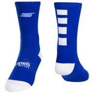 FOUR CUBE CREW SOCKS -- ROYAL BLUE WHITE