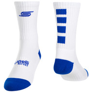 FOUR CUBE CREW SOCKS -- WHITE ROYAL BLUE