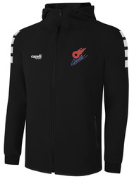 KC COMETS LIFESTYLE TECH ZIP UP HOODIE -- BLACK WHITE  --  IS ON BACK ORDER, WILL SHIP BY 11/15