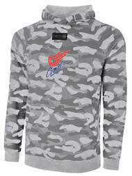 KC COMETS LIFESTYLE FRENCH TERRY CAMO PRINT HOODIE -- LIGHT GREY COMBO BLACK