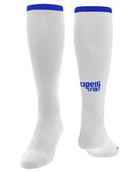 PENN FC YOUTH CS ONE SOCK -- WHITE ROYAL BLUE