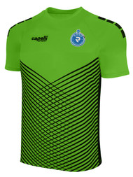 PENN FC YOUTH MADISON STATIC SHORT SLEEVE GK JERSEY -- POWER GREEN BLACK