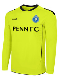 PENN FC YOUTH SPARROW GOALKEEPER JERSEY W/ PADDING -- NEON YELLOW BLACK