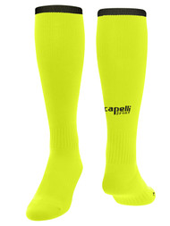 PENN FC YOUTH CS ONE SOCK -- NEON YELLOW BLACK