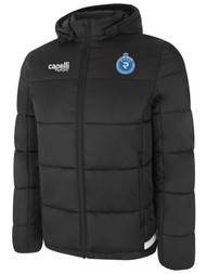 PENN FC YOUTH UPTOWN SHORT WINTER JACKET  --  DARK GREY WHITE