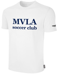 MVLA SHORT SLEEVE COTTON T-SHIRT -- WHITE BLACK