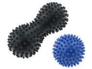 FITNESS 2 PACK MASSAGE BALLS -- BLACK COMBO