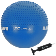 FITNESS 65CM DUAL ACTION MASSAGE BALL -- BLUE