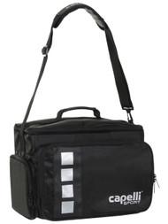 MVLA 4 CUBE COACH MEDICAL BAG WITH EXTREIOR POCKETS & INTERIOR DIVIDERS  --    BLACK SILVER