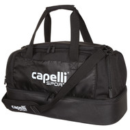 MVLA 4 CUBE HARD BOTTON DUFFLE BAG WITH INTERIOR POCKETS -- BLACK WHITE