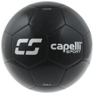 MVLA CS FUSION MACHINE STITCHED SOCCER BALL -- BLACK SILVER