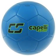 MVLA CS FUSION MACHINE STITCHED SOCCER BALL  -- PROMO BLUE NEON GREEN
