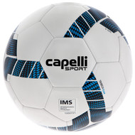 MVLA CAPELLI SPORT TRIEBCA MACHINE STITCHED SOCCER BALL -- WHITE NEON BLUE BLACK
