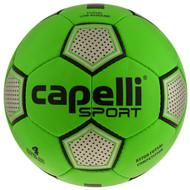 MVLA CAPELLI SPORT ASTOR FUTSAL COMPETITION HAND STITCHED SOCCER BALL -- BRIGHT GREEN SILVER