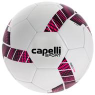 MVLA CAPELLI SPORT TRIEBCA MACHINE STITCHED SOCCER BALL  --  WHITE NEON PINK BLACK