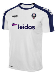 NORTH ALABAMA MADISON SHADY STRIPE SHORT SLEEVE AWAY JERSEY -- WHITE NAVY  --  WXS, WXL ARE ON BACK ORDER, WILL SHIP BY 9/4