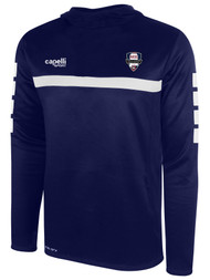 NORTH ALABAMA SPARROW HOODED TRAINING TOP -- NAVY WHITE