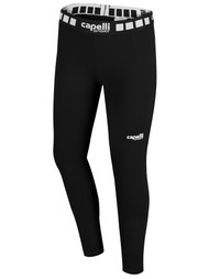 NORTH ALABAMA GIRLS AND WOMEN FULL LENGTH PERFORMANCE TIGHTS -- BLACK WHITE