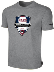 NASC BASICS TEE SHIRT W/ NASC SOCCER GRAPHIC LOGO -- LIGHT HEATHER GREY