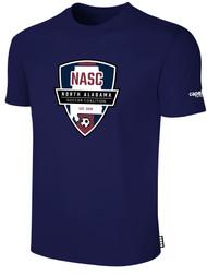 NASC BASICS TEE SHIRT W/ NASC SOCCER GRAPHIC LOGO -- NAVY