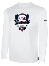 NASC BASICS LONG SLEEVE TEE SHIRT W/ SFC SHIELD LOGO -- WHITE BLACK