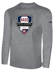 NASC BASICS LONG SLEEVE TEE SHIRT W/ SFC SHIELD LOGO -- LIGHT HEATHER GREY