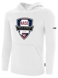 NASC BASICS HOODIE W/ NASC GRAPHIC LOGO -- WHITE BLACK