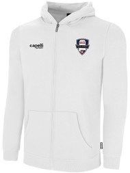 NASC BASICS ZIP HOODIE W/ SMALL SFC CIRCLED LOGO -- WHITE BLACK