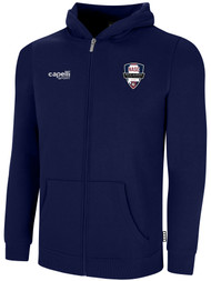 NASC BASICS ZIP HOODIE W/ SMALL SFC CIRCLED LOGO -- NAVY