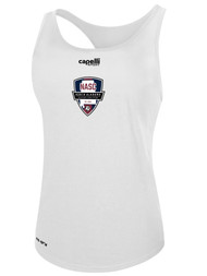 NASC WOMENS BASICS RACER BACK TANK -- WHITE BLACK  --  IS ON BACK ORDER, WILL SHIP BY 11/15