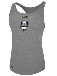 NASC WOMENS BASICS RACER BACK TANK -- LIGHT HEATHER GREY  --  IS ON BACK ORDER, WILL SHIP BY 11/15