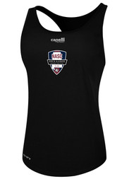 NASC WOMENS BASICS RACER BACK TANK -- BLACK  --  IS ON BACK ORDER, WILL SHIP BY 11/15