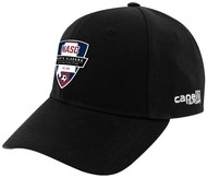 NASC CS BASEBALL CAP -- BLACK WHITE