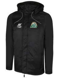 ROCHESTER JUNIOR RHINOS  BASIC STADIUM  JACKET -- BLACK WHITE  ($120-$130)