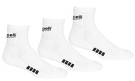 RUSH NEW ENGLAND CAPELLI SPORT  3 PACK QUARTER CREW SOCKS --WHITE