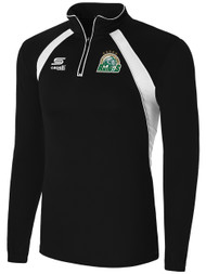 ROCHESTER JUNIOR RHINOS  RAVEN 1/4 ZIP TRAINING TOP  JACKET -- BLACK WHITE ($55-$60)