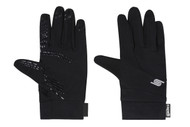 SOCCER FIELDER GLOVES -- BLACK