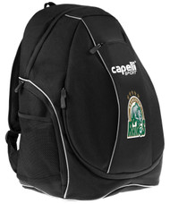 ROCHESTER JUNIOR RHINOS CS ONE TEAM UTILITY SOCCER BACKPACK  -- BLACK WHITE