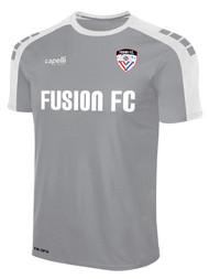 FUSION FC SOHO SHORT SLEEVE MATCH JERSEY  --  LIGHT HEATHER GREY