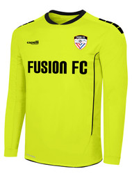 FUSION FC SPARROW II LONG SLEEVE GOALKEEPER JERSEY WITH PADDING -- NEON YELLOW BLACK