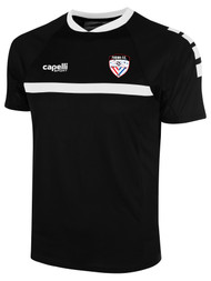 FUSION FC SPARROW SHORTS SLEEVE TRAINING JERSEY -- BLACK WHITE