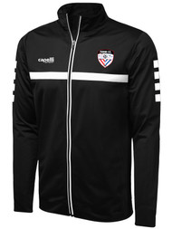 FUSION FC SPARROW FULL ZIP TRAINING JACKET -- BLACK WHITE